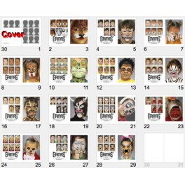 Kids Face Painting Book For Free Download With Different Animal Masks